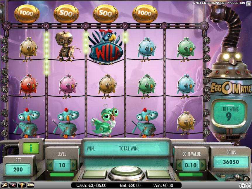 EggOmatic Online Slot - NetEnt - Rizk Online Casino Sverige