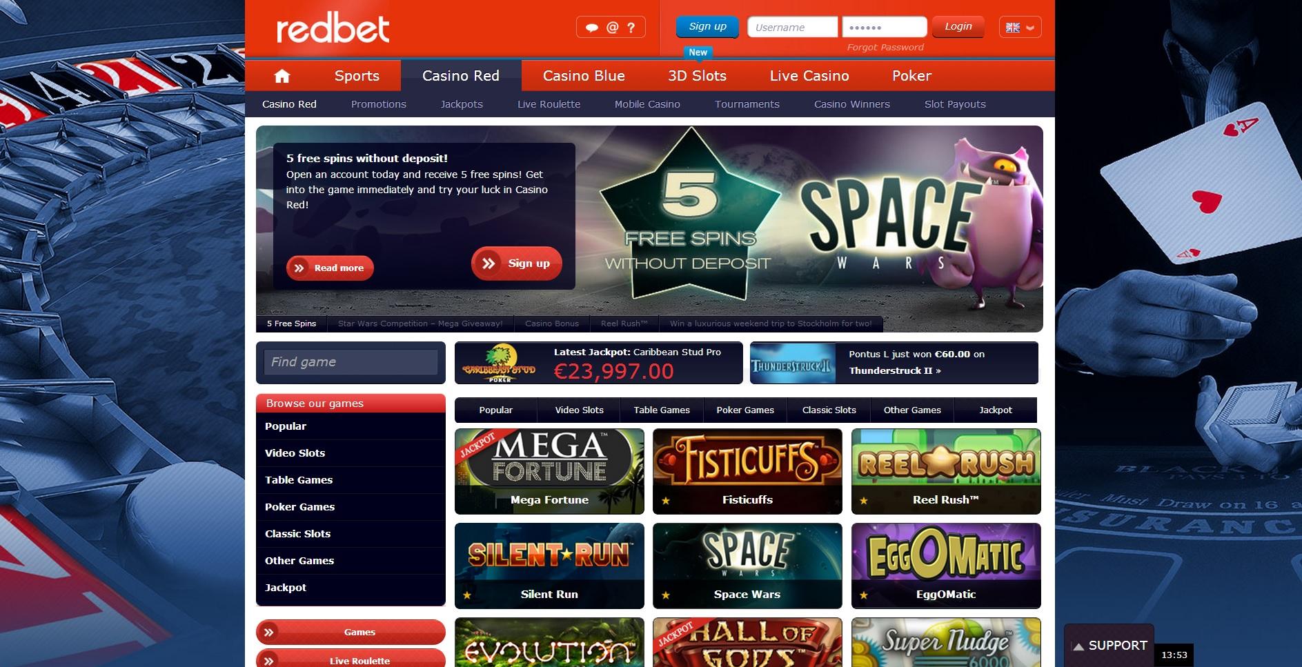 RedBet-Casino-Red-Lobby