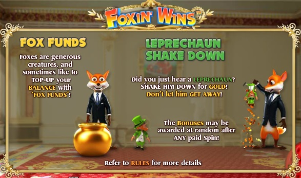 foxin' wins bonuser