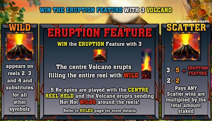 hot hot volcano - bonus