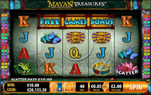 mayan treasures free game bonus