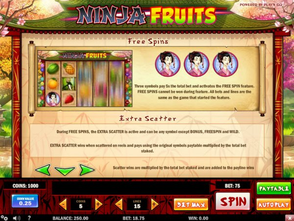 ninja fruits bonus