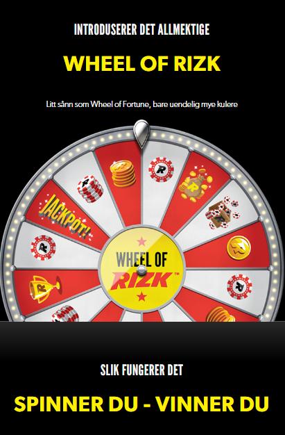 Wheel of Rizk er den populære nyvinningen til Rizk Casino