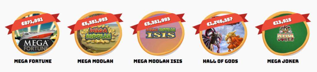 Giant Jackpots in Mega Moolah finner du hos Casumo